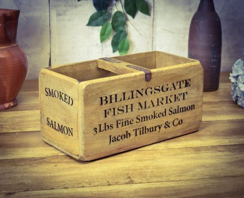 Medium Vintage Box Billingsgate Fish Box